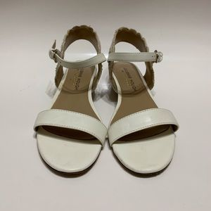 Sole Society White Sandals/Mini Wedges